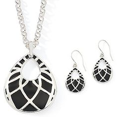 east 5th® Teardrop Pendant & Earring Set - jcpenney
