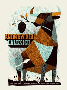 Awesome Poster! #cool #shapes #colour   GigPosters.com - Andrew Bird