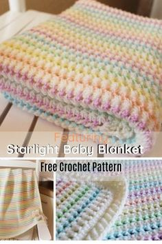 Adorable Starlight Baby Blanket Free Pattern – Knit And Crochet Daily Adorable Starlight Baby Blanket Free Pattern – Knit And Crochet Daily Beau Crochet, Crochet Baby Blanket Free Pattern, Baby Afghan Crochet, Crochet Stitches Patterns, Knit Crochet, Baby Afghan Patterns, Crochet Blankets, Knitting Baby Blankets, Crochet For Baby