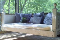 Shabby Chic Day Bed Porch Swing by customrustics1 on Etsy, $999.00