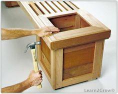 Building a Garden Bench Planter