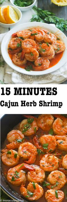 Cajun Buttery Herb Shrimp.   Loaded with parsley, thyme, garlic and oregano- Ready in 15 minutes. Is there a reason why you are not jumping with joy? Ok, let me elaborate, this is a super quick and easy Cajun shrimp meal, that you can make any day of the week  – even on a busy, …