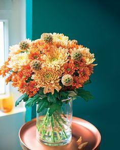 #TRUFFAUT - Bouquet sonate d'automne, une belle déclinaison de tons orangés