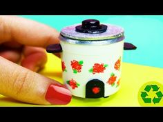 DIY Miniature Rice Cooker - Easy Doll Crafts - Simplekidscrafts - YouTube