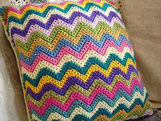 Chevron Crochet Cushion