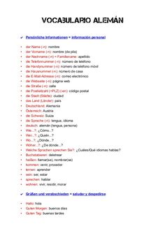 Vocabulario alemán (completo) by N de Nadie via slideshare