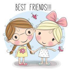 Melhores amigas fofas