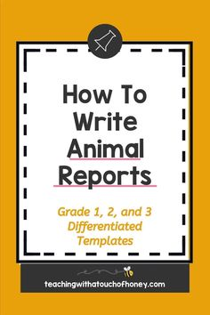 Ready to create animal research projects with your grade one, grade two, and grade three students? Support your students through each stage of the report writing process as they write their animal reports. Informative writing can be a challenge for kids. Make it is easy with these differentiated templates. BUY NOW! Teach W.1.2, W.1.5, W.2.2, W.2.5, W.3.2, and W.3.5 with animal reports. Writing Resources, Writing Activities, Teacher Resources, Informative Writing, Informational Writing, Writing Process, Writing Skills, Animal Activities For Kids, Writing Posters