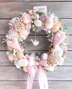 Easter Tree, Easter Wreaths, Holiday Wreaths, Felt Decorations, Vintage Easter, Deco Table, Flower Crafts, Easter Crafts, Diy And Crafts