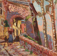 Ulvi Liegi (It, 1858-1939) - Vicolo a Montenero - 1928