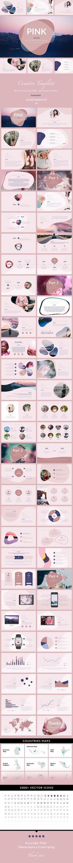 Pink Minimal & Creative Keynote Template — Keynote KEY #1920x1080 #modern • Download ➝ https://graphicriver.net/item/pink-minimal-creative-keynote-template/20321940?ref=pxcr