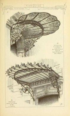 """""""Paris early 20th century art nouveau building decoration."""""""