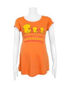 Follow the Mommy Maternity Tie-Back Orange Tunic Top FineBrandShop. $18.50