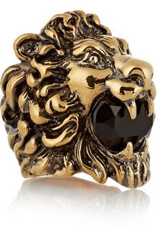 Gucci Gold-plated crystal ring | NET-A-PORTER