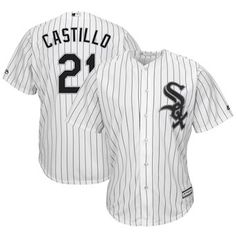 2f84c55e43a44 Welington Castillo Chicago White Sox Majestic Home Cool Base Player Jersey  – White Chicago White Sox