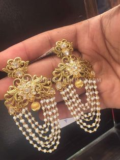 Gold Earrings With Weight 27 Grams, 22K Gold Earrings With Weight 27 Grams.