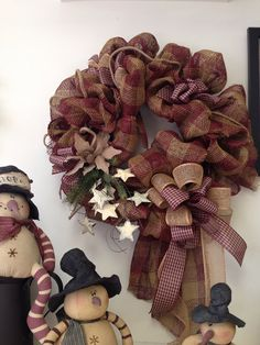 Extra Large Burlap Primitive Wreath with by BloomingSensations, $79.95