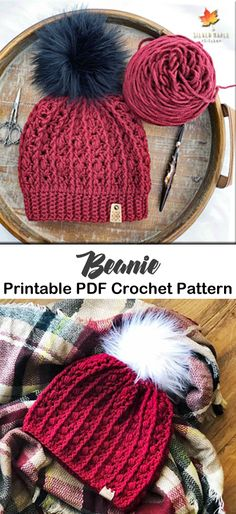 make a cozy hat crochet pattern - women hat - beanie crochet pattern Bonnet Crochet, Crochet Beanie Pattern, Crochet Crafts, Free Crochet, Knit Crochet, Crochet Scarves, Crochet Clothes, Motifs Beanie, Yarn Projects