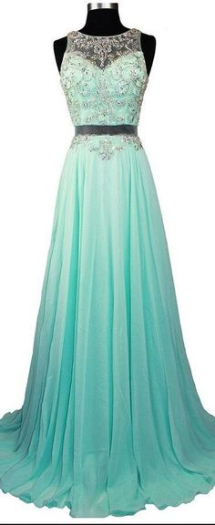 Sparkle Prom Dresses With Silver Beading Chiffon Prom Dresses Simple Evening Gowns
