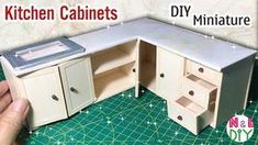 How to make Kitchen Cabinets for Dollhouse Miniature Furniture, Dollhouse Furniture, Kitchen Furniture, Furniture Stores, Furniture Plans, Furniture Buyers, Furniture Cleaning, Furniture Direct, Furniture Online