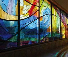 panel de vidrio soplado decorado coloreado ART GLASS COLOR Glassolutions