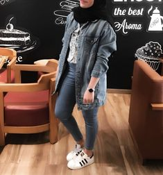 Hijab Teen, Girl Hijab, Casual Hijab Outfit, Hijab Chic, Islamic Fashion, Muslim Fashion, Outfits Otoño, Fashion Outfits, Modest Fashion