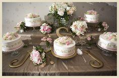 New trend, deconstructed wedding cakes.....