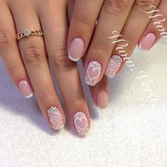 Having short nails is extremely practical. The problem is so many nail art and manicure designs that you'll find online Love Nails, Red Nails, White Nails, Hair And Nails, Bridal Nails, Wedding Nails, Nail Art Designs, Nails Design, Super Nails