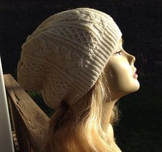 Beautiful Cable Sweater Hat Beanie on Etsy, $24.00