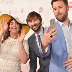 Photos: Kentucky Derby celebrity sightings - 2016 - The members of Lady Antebellum — Hillary Scott, Dave