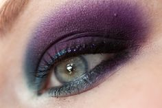 Makeup in Purple & Teal - with Make Up For Ever '92'