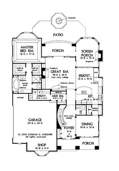 great floor plan... | Southern Living House Plans | Pinterest ...