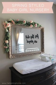 Spring Styled Baby Girl Nursery - The Hamby Home