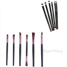 $ 5,20 6Pcs / set Make Up Brushes Kit Eyeshadow lábio sobrancelha escova…