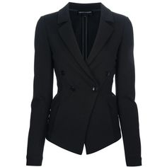 EMPORIO ARMANI Fitted Blazer found on Polyvore