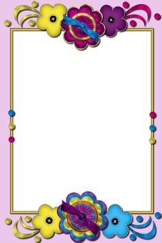 Flower Background Design, Printable Border, School Border, Boarders And Frames, School Frame, Framed Wallpaper, Special Kids, Borders For Paper, Crafty Kids