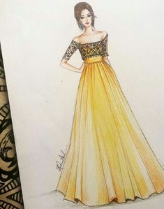 Fashion design sketches 631137335261500090 - Mode Source by Dress Design Drawing, Dress Design Sketches, Fashion Design Sketchbook, Dress Drawing, Fashion Design Drawings, Fashion Sketches, Dress Designs, Fashion Drawing Dresses, Fashion Illustration Dresses