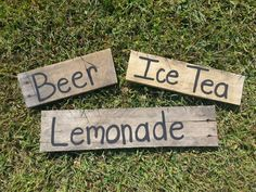beverage signs rustic wedding sign country wedding by PineNsign, $40.00 (but I'm gonna make em!)