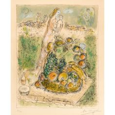 Marc Chagall - The Large Basket, 1975, lithograph...