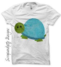 Turtle Applique Pattern Animal Applique by ScrapendipityDesigns