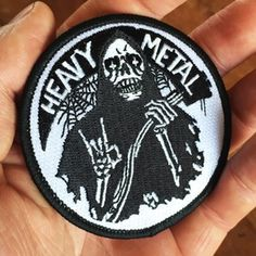 "Image of HEAVY METAL 3"" embroidered patch - Becky Cloonan"