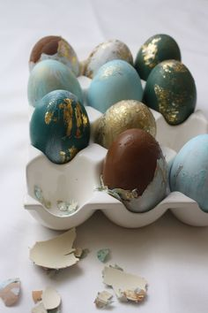 @kitchenoftreats - Easter treats - egg shells filled with chocolate and peanut butter.