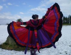 Fire Sprite Custom Gypsy Pixie Bustle coat from by SpiralGypsy