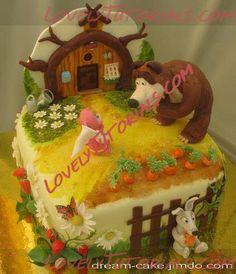 "МК лепка ""Маша и Медведь"" - Мастер-классы по украшению тортов Cake Decorating Tutorials (How To's) Tortas Paso a Paso"