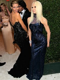 Heidi Klum and Designer Donatella Versace were among the throng of celebs invited to Elton John's Oscar viewing party.