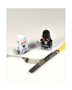Dale cuerta a tu salero y pimientero con forma de robot