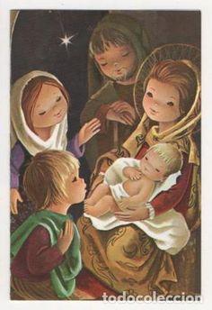 TARJETA NAVIDAD DIPTICO ESCRITA (Postales - Navidad)