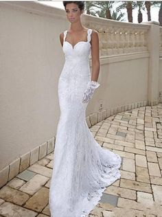Wedding Dress Bridal Gown White/Ivory Mermaid Backless Custom Size 2 4 6 8+++