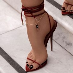 Hot Heels, Lace Up Heels, Strappy Heels, Stiletto Heels, Blue Heels, Stilettos, Pretty Shoes, Cute Shoes, Me Too Shoes