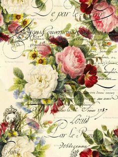 63 ideas for flowers vintage printable decoupage Images Vintage, Art Vintage, Vintage Pictures, Vintage Paper, Vintage Prints, Shabby Vintage, Vintage Labels, Vintage Ephemera, Vintage Cards